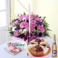 엄마사랑해요+케익+샴페인